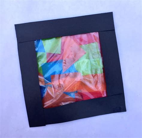 tissue paper stained glass craft for tissue paper stained glass craft for family focus