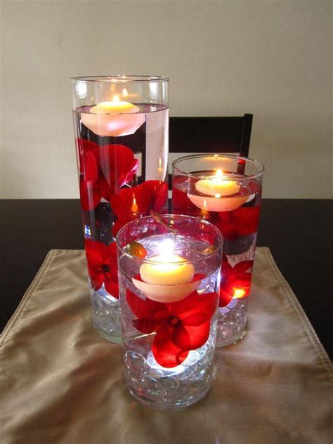 floating candle centerpiece wodnerful diy unique floating candle centerpiece with flower