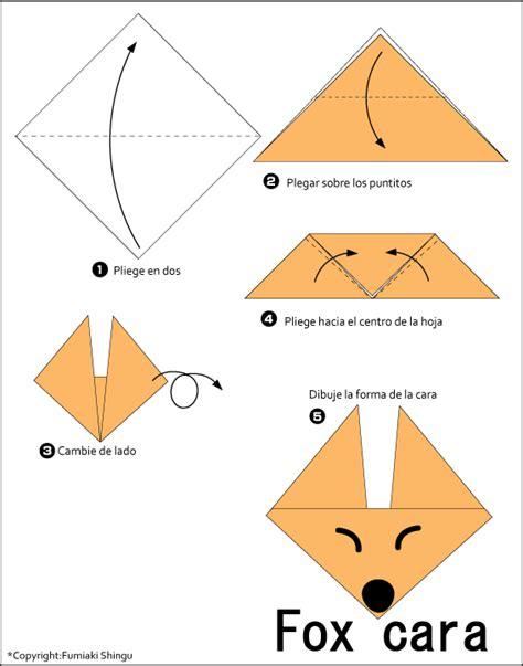 fox origami origami fox cara