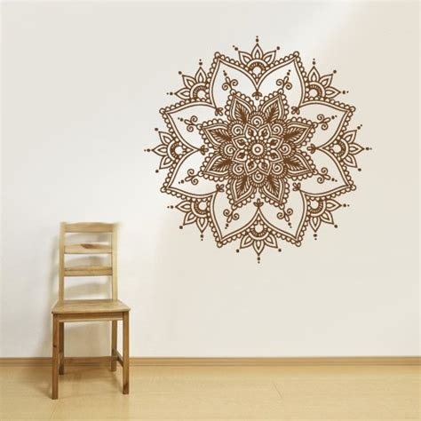 Flower Wall Stickers For Bedrooms wall art designs mandala wall art henna wall art mandalas