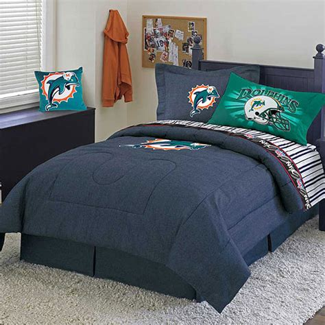 miami dolphins crib bedding sets miami dolphins nfl team denim comforter sheet set
