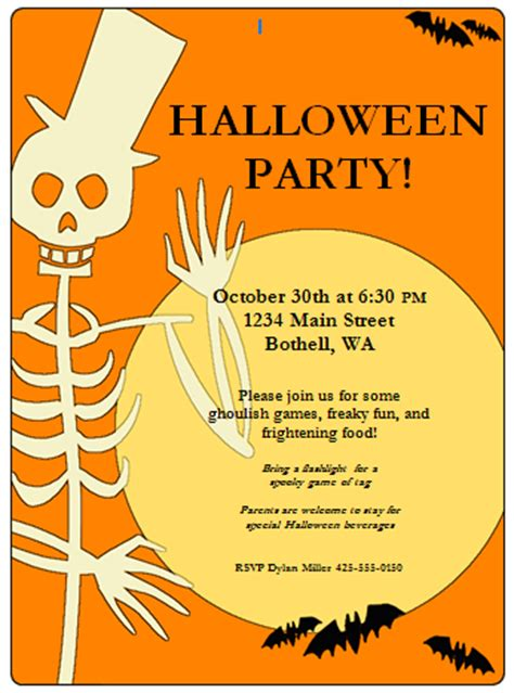 halloween invitation template festival collections