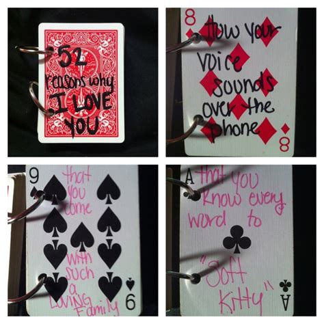 make a deck of cards 52 reasons i you book make with a deck of cards