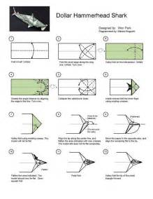 how to make a origami shark step by step hammerhead shark diagram 1 of 2 money dollar origami