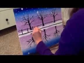 paint nite minneapolis three trees in winter paint nite minneapolis