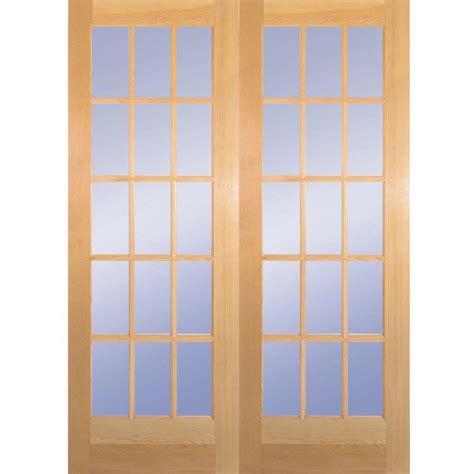 28x80 interior door builder s choice 60 in x 80 in 15 lite clear wood pine