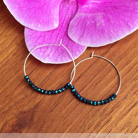 beaded earrings diy easy diy beaded earrings hoops running with