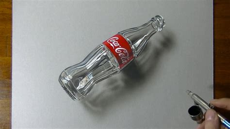 3d drafting 3d drawing coca cola empty glass bottle