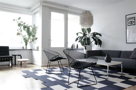 black and white chairs living room simple black white living room with net chairs interior
