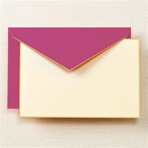 cards and envelopes for card gold bordered correspondence cards and envelopes