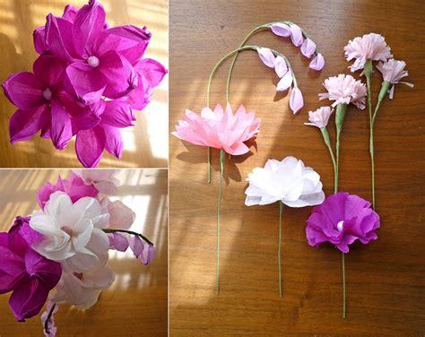 flower crafts with tissue paper craft tissue paper flowers craftshady craftshady