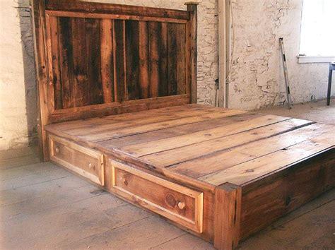 rustic pine bed frame best 25 rustic platform bed ideas on platform