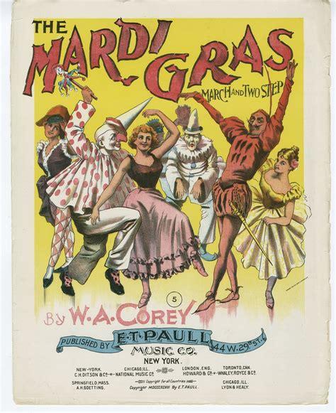 vintage mardi gras vintage ephemera sheet cover the mardi gras 1897