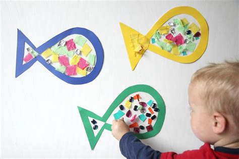 craft projects for babies toddler approved sticky fish craft for toddlers
