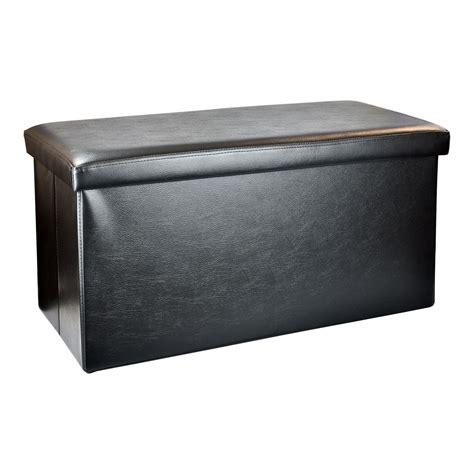 ottoman storage chest large folding faux leather ottoman storage chest blanket
