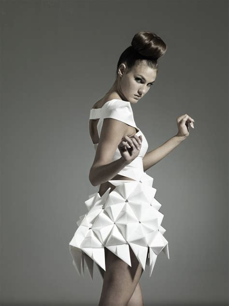 origami inspired dress nintai origami inspired geometric dresses strictlypaper