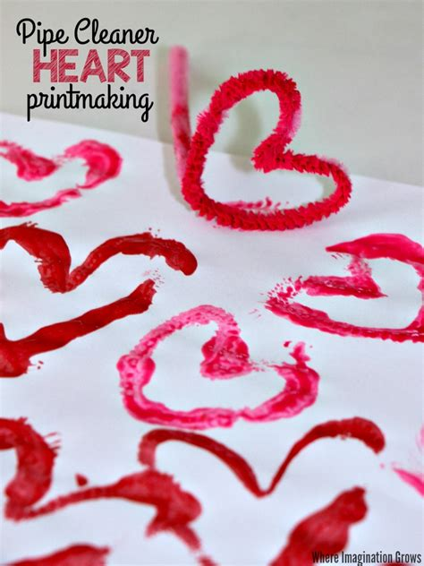 pipe cleaner craft s day printmaking craft with pipe cleaners