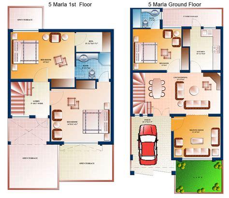 5 marla house plan civil engineers pk
