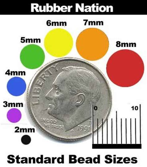 5mm actual size bead size charts jewelry charts n graphs
