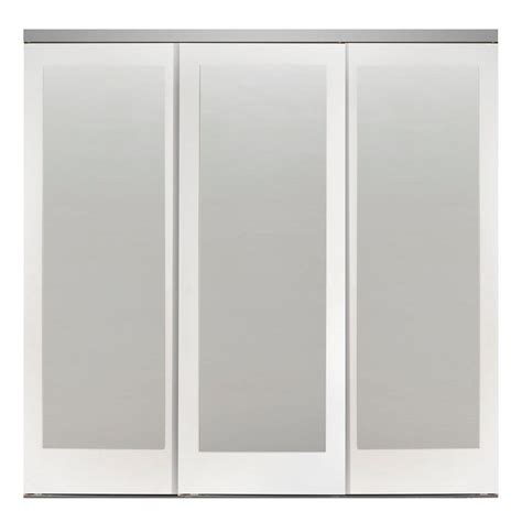 sliding mirror closet doors home depot impact plus 108 in x 96 in mir mel white mirror solid