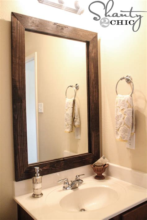 diy bathroom mirrors cheap and easy way to update a bathroom shanty 2 chic
