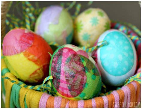 decoupage easter eggs tissue paper paper napkin easter eggs sweet lil you