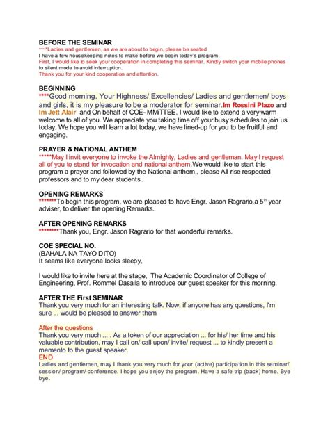emcee script for emcee script