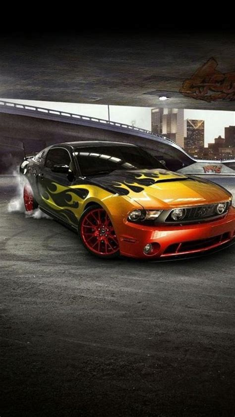 Iphone 5 Car Wallpaper by Iphone 5 Wallpapers Hd Cool Mustang Front Car Iphone 5