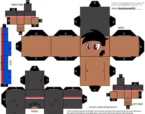 paper craft templates kevin jr papercraft template by kevintoons915 on deviantart