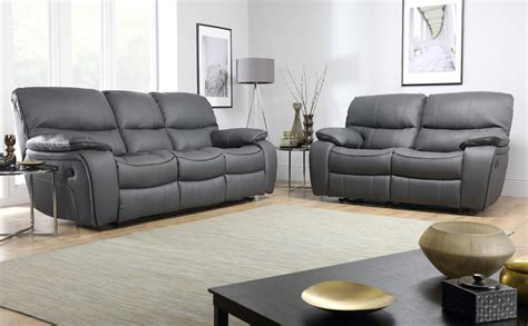 grey sofa recliner beaumont grey leather recliner sofa range ebay