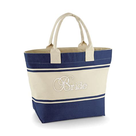 Baby Shower Sashes by Navy Bridal Party Tote Bag Glitz For The Girls