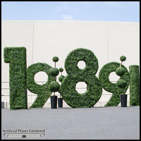 outdoor topiaries custom outdoor artificial topiary shapes logos