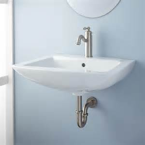 wall mount kitchen sink signature hardware darby porcelain wall mount bathroom