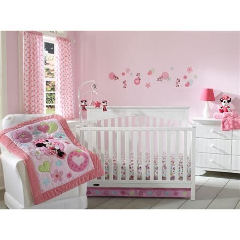 minnie mouse bedding for cribs disney baby minnie mouse sitting pretty 3 crib