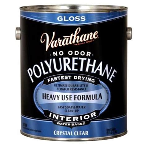 home depot urethane paint varathane 1 gal clear gloss water based interior