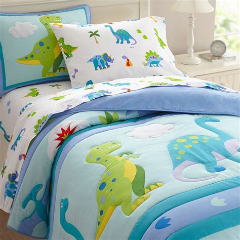 toddler bedding sets boys olive comforters dinosaur land size