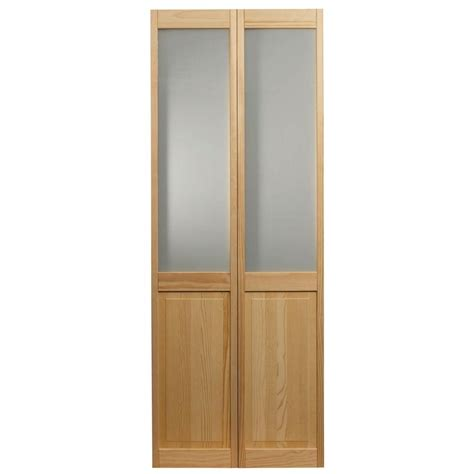 24 x 80 interior door pinecroft 24 in x 80 in frosted glass raised panel
