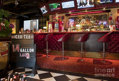 Bar Styles by Bar At An American Style Diner Photograph By Jaak Nilson