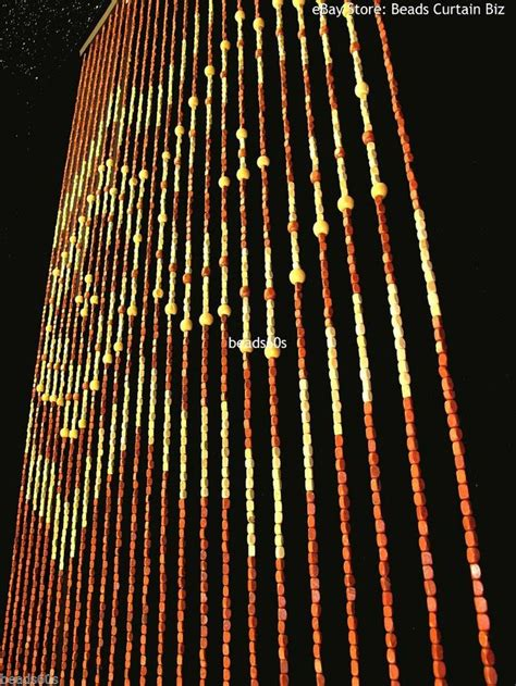 bamboo beaded curtains for doorways 60 s style woods vintage wooden wood beaded curtain not
