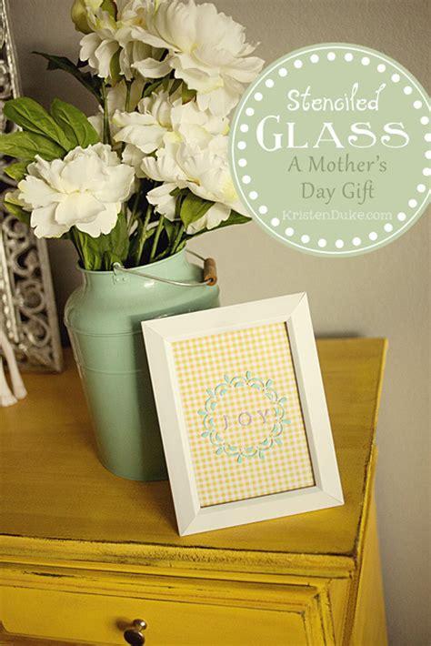 martha stewart crafts stenciled glass s day gift idea