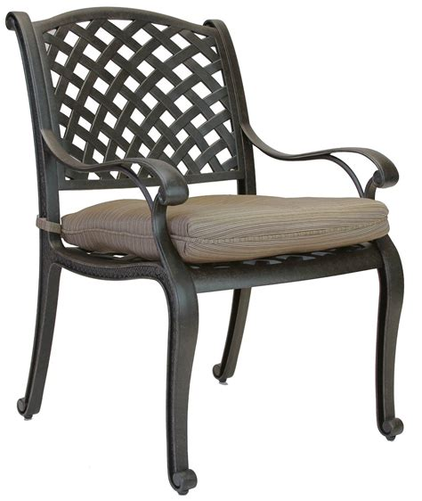 cast aluminum patio chair nassau cast aluminum outdoor patio dining chair with seat