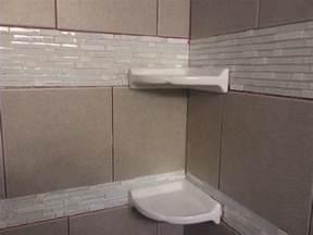 corner shelves for shower diy shower tiling installing floating corner shelves