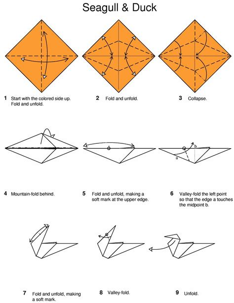 Origami Seagull And Duck By Hans Birkeland