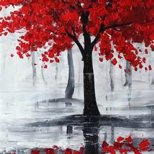 3 foot black tree peinture toile huile oils tableau abstraite paysage