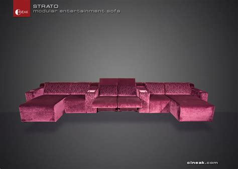 home theater sectional sofas media room seats from cineak gt gt strato sectional sofas