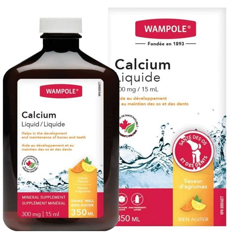 Buy WAMPOLE Liquid Calcium 300 mg Mineral Supplement   Citrus Flavour 350 ml from Value Valet