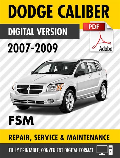 auto repair manual free download 2009 dodge caliber auto manual 2007 2009 dodge caliber se sxt r t srt 4 factory repair service manual s manuals