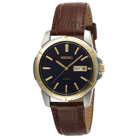 mens leather watches seiko s sgga08 brown leather seiko quartz jam tangan terbaik