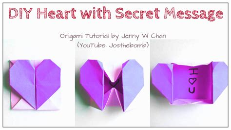 origami message diy origami box envelope with secret message pop