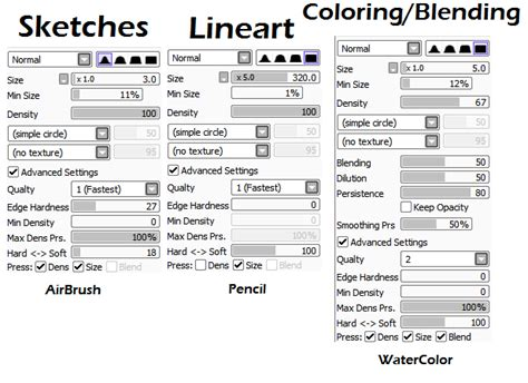 paint tool sai mobile paint tool sai tool settings by thepinster on deviantart